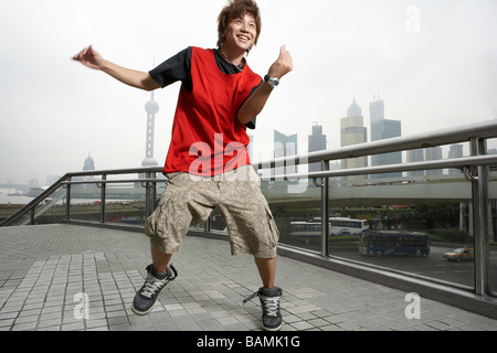 Teenage Boy In Shanghai - Stock Photo