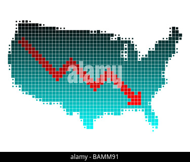 Depression in the United States - Stock Photo