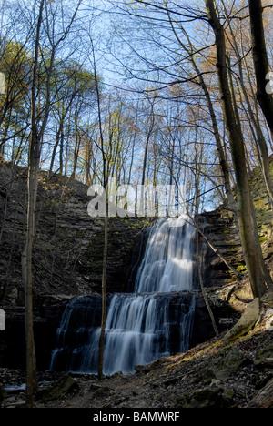 Spring at Sherman Falls Ancaster Ontario - Stock Photo