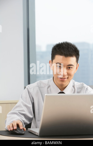 Businessman Using Computer - Stock Photo