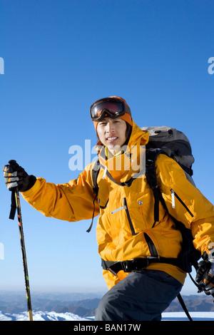Young man in ski gear - Stock Photo