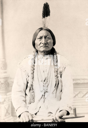 Sitting Bull, c.1831-1890.  Hunkpapa Lakota Sioux holy man. - Stock Photo