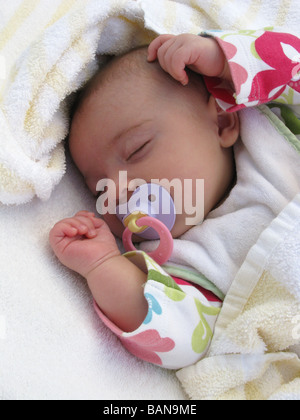 A sleeping baby - Stock Photo