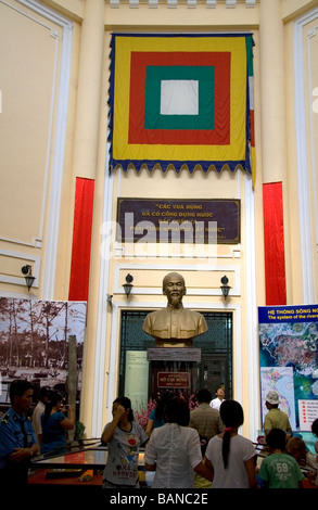 Ho Chi Minh exhibit at the Vietnam History Museum in the Saigon Zoo and Botanical Gardens in Ho Chi Minh City Vietnam - Stock Photo