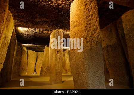 Megalithic Dolmens of Menga in Antequera Málaga Andalusia Spain - Stock Photo