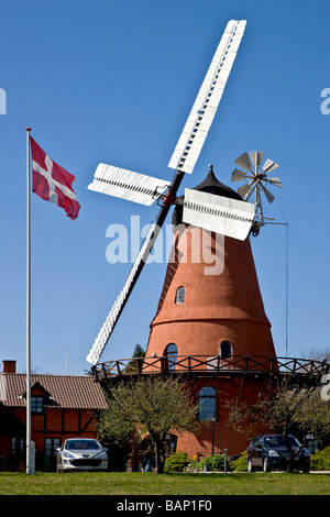 Historic Windmill in dutch style at Aastrup - Stock Photo