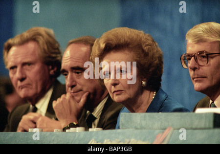 Margaret Thatcher Heseltine John Major Brian Mawhinney Tory conference 1995 conservative Prime Minister - Stock Photo