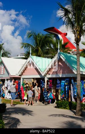 Lucayan cruise terminal and harbour marketplace Grand Bahama Bahamas - Stock Photo