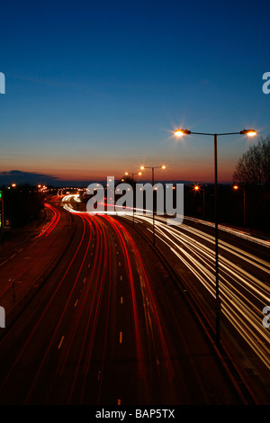 Rush hour traffic on A40 Road, Greenford, London, UK - Stock Photo