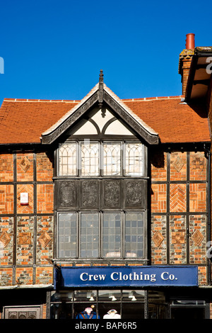 Tudor House in The High Street in the typical English market town of Marlborough Wiltshire England UK - Stock Photo