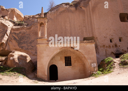 Ancient mosque at open air museum in Cappadocia Turkey - Stock Photo
