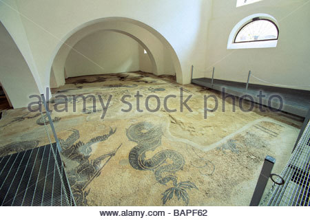 bevagna  mosaico di epoca romana  umbria  italy - Stock Photo