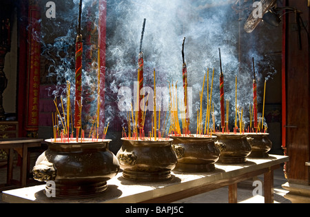 Incense Burning in Thien Hau Temple, Ho Chi Minh City, Vietnam. - Stock Photo