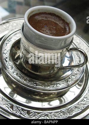 A Turkish Coffee at The Four Seasons Hotel Istanbul Turkey - Stock Photo