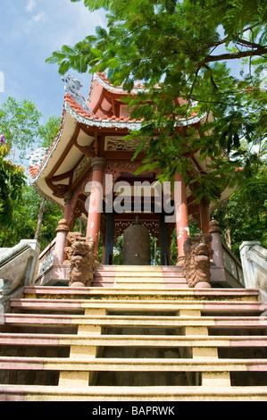 Pagoda at the Long Son Temple, Nha Trang, Vietnam - Stock Photo
