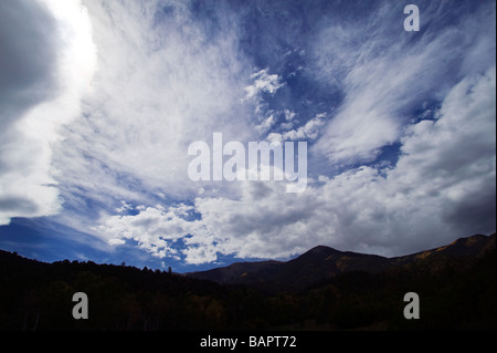 Unusual storm clouds over Salida Colorado USA - Stock Photo