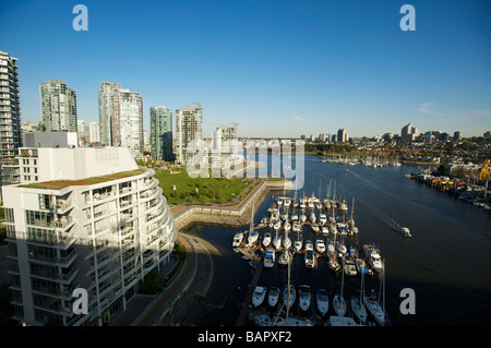 The condo towers of Yaletown Vancouver BC Canada - Stock Photo
