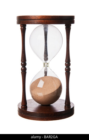 Vintage old wooden Hourglass - Stock Photo