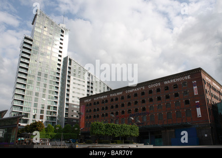 Buildings in Manchester city centre in the north west of England - Stock Photo