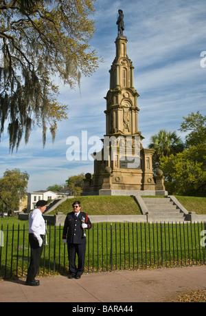 Forsyth Park Confederate Memorial in Savannah, Georgia - Stock Photo