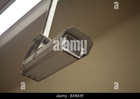 closed circuit tv camera, London Underground, London, England UK - Stock Photo