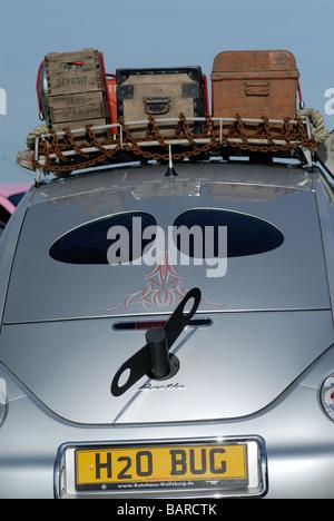 Volkwagen beetle with 'winder' - Stock Photo