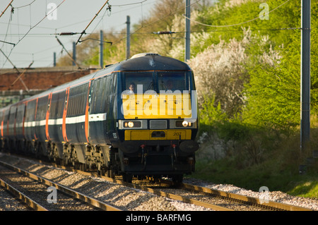 The Intercity 225 high speed train on the east coast main line - Stock Photo