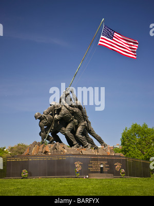 ARLINGTON VIRGINIA USA United States Marine Corps War Memorial - Stock Photo