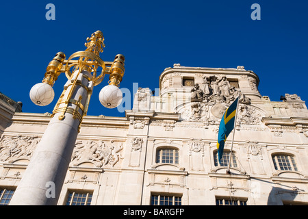 Exterior detail of the Royal Dramatic Theatre, Stockholm, Sweden - Stock Photo