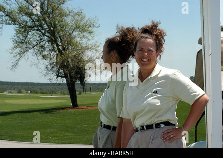 Fanny Sunesson is most noted as being the golf caddie for Nick Faldo from 1990 to 1999. - Stock Photo
