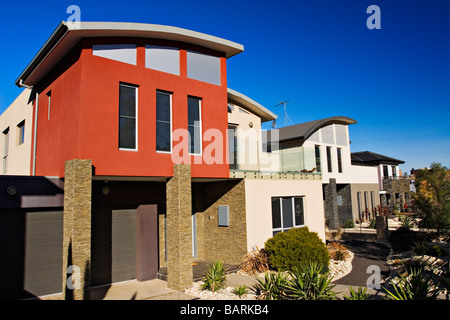 Housing Industry / New contemporary residential houses.Melbourne Victoria Australia. - Stock Photo