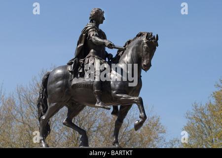 England Bristol King William III statue in Queen square - Stock Photo