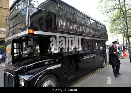 The Ghost Bus Tours London England - Stock Photo
