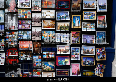 Picture postcards London England - Stock Photo