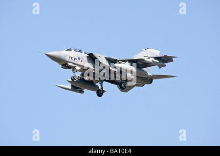 An RAF Bae Systems Tornado GR4 on final approach - Stock Photo
