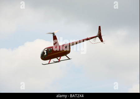 Robinson R44 As seen at Shuttleworth Spring AirShow 2009 - Stock Photo
