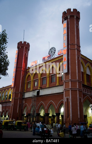 Old Delhi station, also known as Northern station, Delhi. India. - Stock Photo