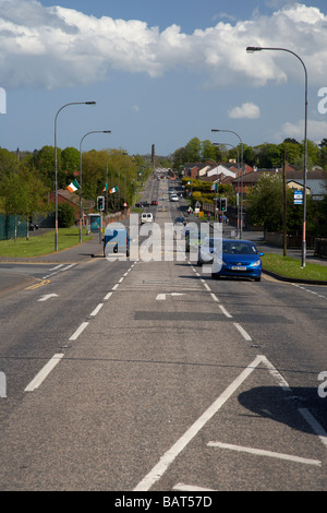 The Garvaghy Road in Portadown - Stock Photo