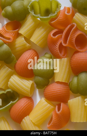 Pasta, colored, various types - Stock Photo