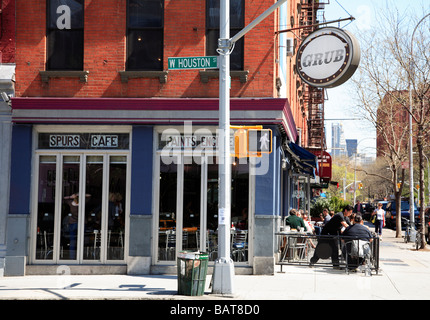 Silver Spurs Cafe Greenwich Village New York City - Stock Photo