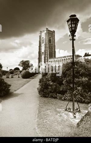 Lavenham Church, St Peter and St Paul's, Sudbury, Suffolk, UK - Stock Photo