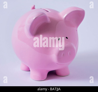 piggy bank pink 'money box' - Stock Photo