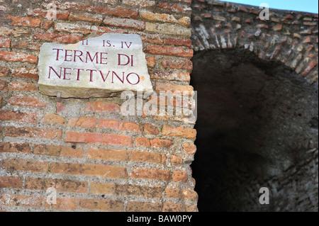 Terme di Nettuno, Ostia Antica, Province of Rome, Lazio, Italy - Stock Photo
