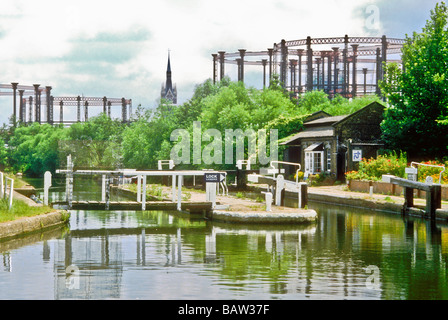 St Pancras Locks on the Regents Canal in London England UK - Stock Photo