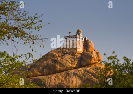 Rock Fort Temple Trichy Tamil Nadu India - Stock Photo