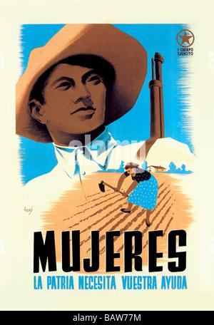 Mujeres La Patria Necesita Vuestra Ayuda - Stock Photo