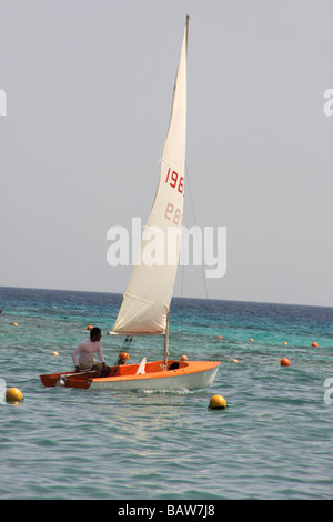 sail boat in naama bay sharm el sheikh - Stock Photo