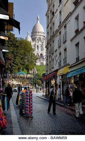 montmatre  sacre cour  paris  france - Stock Photo