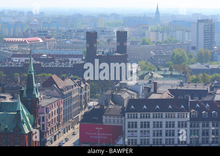 Aerial view on the city center centre Wroclaw Poland - Stock Photo