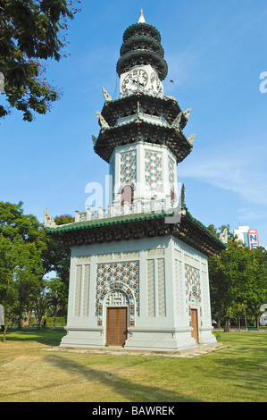 Lumpini Park, Clock Tower, Thailand, Bangkok Stock Photo ...